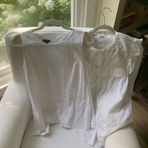 BUNDLE: 2 White Blouses (Talbots and Gap)